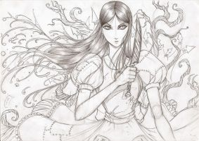 Alice Madness Returns pencil by Osmar-Shotgun
