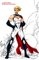 Power Girl 2013 Redesign By Brett Booth - Colored by kyomusha