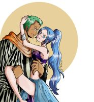Zoro x Vivi - Colour by Avro-Chan