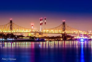 59th St. Bridge Power Towers (revisited) by peterjdejesus