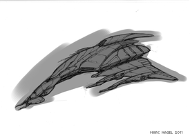 Fighter Sketch by marcnail