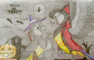Trick or Tweet: Jay and Ria by SammfeatBlueheart