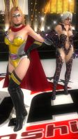 DOA5LR - Tina and Christie Fighter Force 02 by MomijiHayabusa