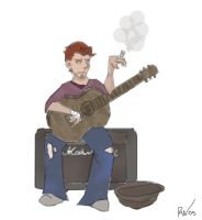 Out of Work Busker by Teensy