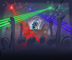 Vinyl Scratch: PARTY HARD! by mafinzy