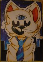 Cecil Baldwin as a cat by imakocoa