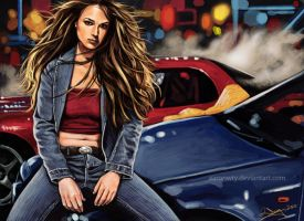 Hot Street Racer Girl by aaronwty