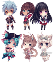 Chibi Commissions 18 by LaDollBlanche