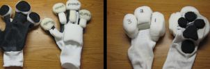 Fursuit Handpaws and Sockpaws - W.I.P. by PeaceWolfLegacy
