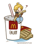 Hetalia - America loves McDonalds by caycowa