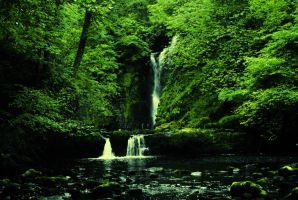 The Brecon Beacons National Park waterfall  by undercover-fartist