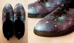 Galaxy shoes by AlieN-SouL
