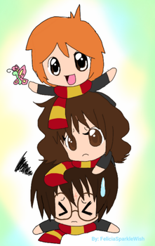 Golden Trio :p by FeliciaRainbowStars