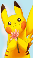 Pikachu wants to give you a flower by snuddi