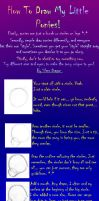How to Draw a Pony - Part One by Silver--Dragon