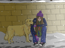 Friend in the Snow by Amora-Delara