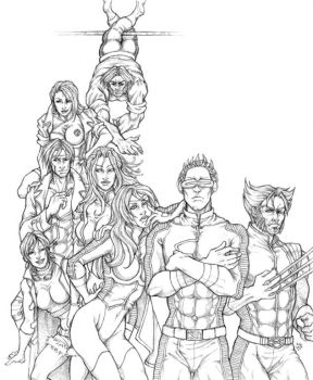 X-Men-Team Alpha - Pencils by Ludi-Price