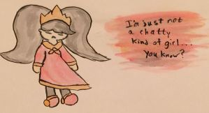 Not A Chatty Kind Of Girl by TheGreatAshley