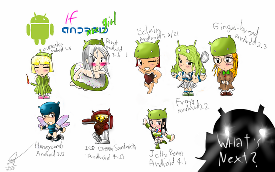 Version of Android are GIRL by taedesign