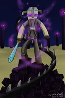 The Enderkin (Minecraft/Skyrim crossover) by prezleek