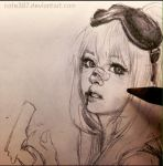 Morning Sketch (Anzujaamu's character) by Cate397