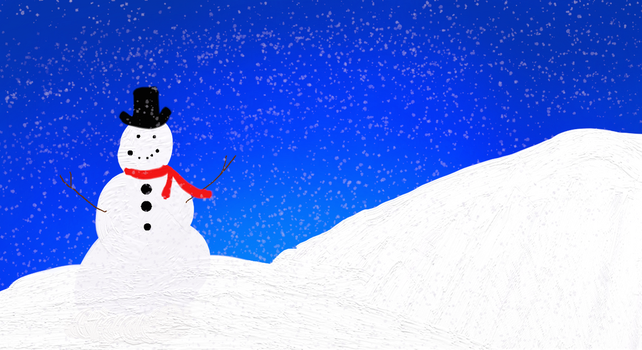 Snowman in the Night by Alyelectricblue
