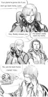 [Resident Evil:Damnation]Leon/Buddy small comics.. by eilinna