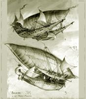 3M Airships 4+5 by Bartoleum