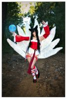 A wild ahri has appeared by Ebanaynay