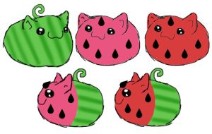 Puggle Melons by Foxy-Sketches