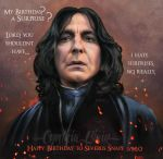 Happy Birthday Snape by Cynthia-Blair