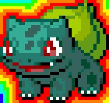Bulbasaur Sprite (Battle) by GamerWolf159