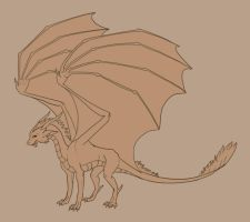 Generic Dragon Lineart by Pseudolonewolf