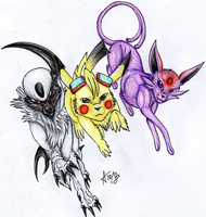 Pokemon Trio by ARVEN92