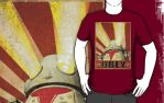 OBEY Distresses T Design by sicklilmonky