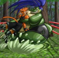 Battle in the Swamp by Kazecat