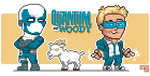 Quantum and Woody... and Goat by ionrayner