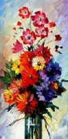 30'' Afremov  BOUQUET O by Leonidafremov