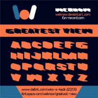 Greatest View font by weknow by weknow