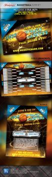March Madness Basketball Flyer Set by STRONGHOLDSTUDIOS
