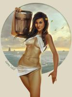 Water-bucket-pinup-james-wolf by jameswolf