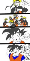 what if? naruto vs. goku by venomsspider