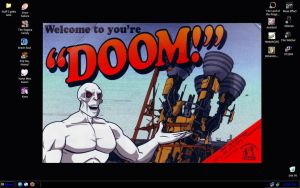 Frisky Dingo Desktop by crimsonbro