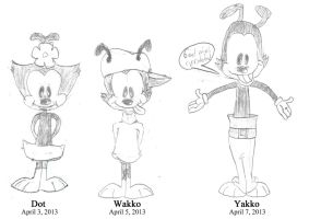First ever Animaniacs sketches (April 2013) by ThatCanuckToonNerd