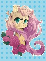 Fluttershy Portrait by Tomat-in-Cup