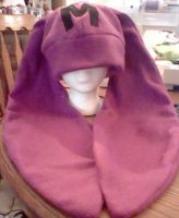 Purple Bunny Hat-First Commission by Hieiskittygirl