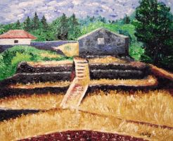 Sicily Countryside by jfkpaint