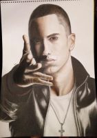 Eminem Not Afraid A3 Drawing by Narniakid