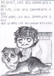 Saturnalia Greeting card 4 - Will and the dog by FuriarossaAndMimma