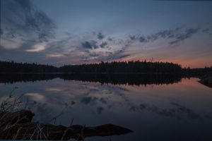 Queer Lake Sunset by madmoonhowl
